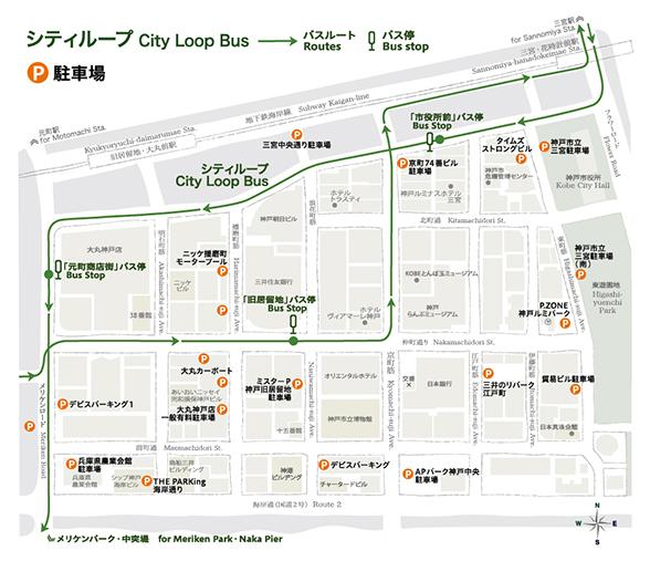 駐車場/シティー・ループ バス乗り場